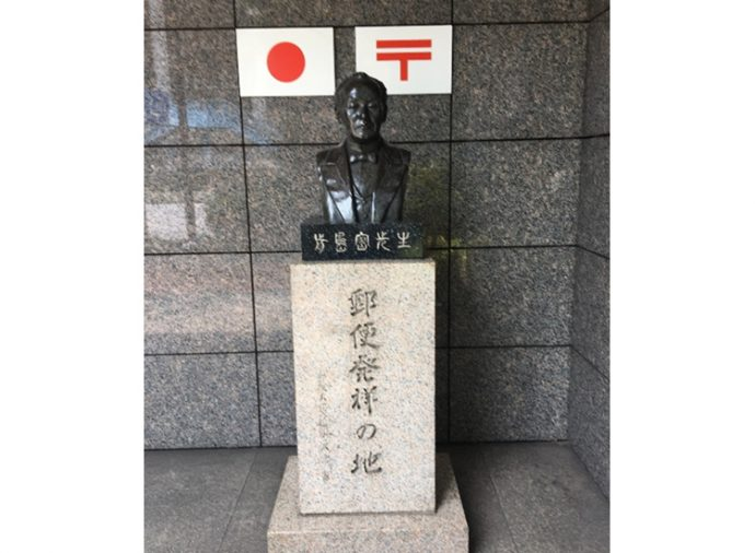 「前島密先生」の銅像